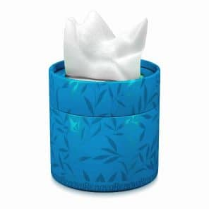 White Facial Tissue-Colored Round Box 3 Ply-40 Tissues