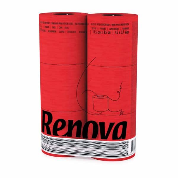 Red Luxury Scented Colored Toilet Paper 6 Rolls
