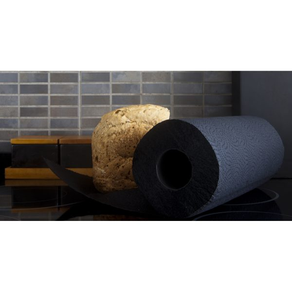 Luxury Black Colored Paper Towel Rolls 2-Ply-120 Sheets Set of 6