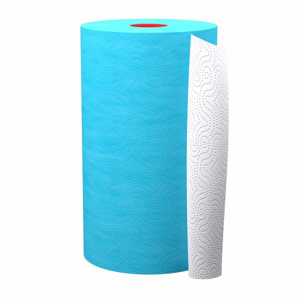 Luxury Colored Paper Towel Jumbo Rolls 2-Ply-120 Sheets Set of 8