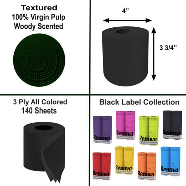 Scented Colored Toilet Paper 3-Ply Bath Tissue 6 Rolls Pallet 360 packs-2160R